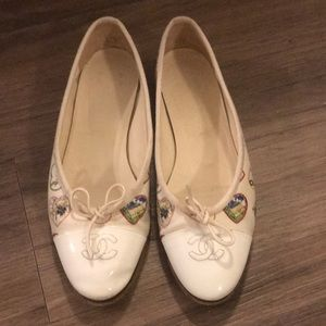Authentic Chanel Heart Shoes